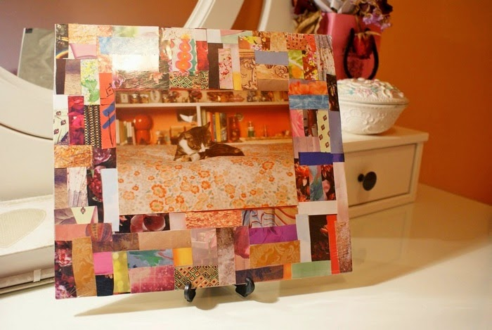 patchwork frame diy home
