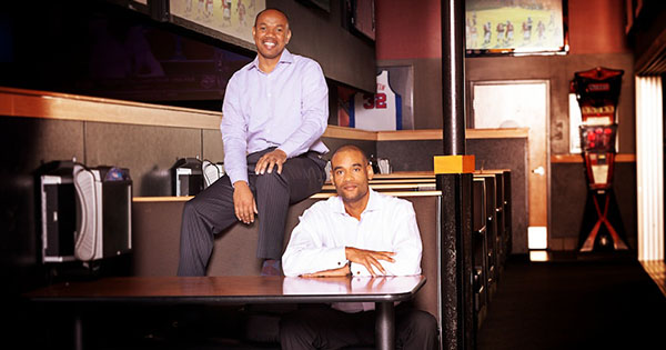 Karim Webb and Edward Barnett, founders of PCF Restaurant Management