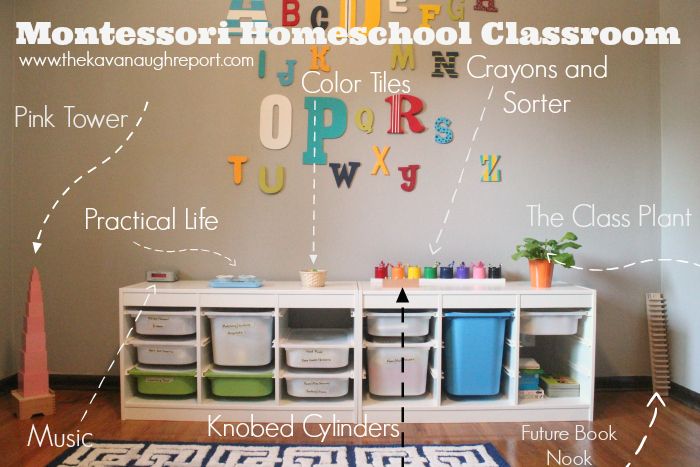 tot school, montessori, room tour, pink tower