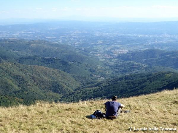 Panorama dal Pratomagno