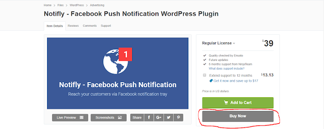 NOTIFLY - FACEBOOK PUSH NOTIFICATION
