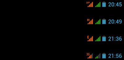 معنى الرموز والحروف E, H, G, H+, 3G التي تظهر في هاتفك عند الاتصال بالأنترنت