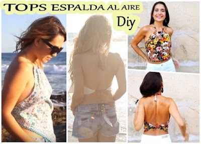 Tops escotes halter sin espalda diy bricomoda