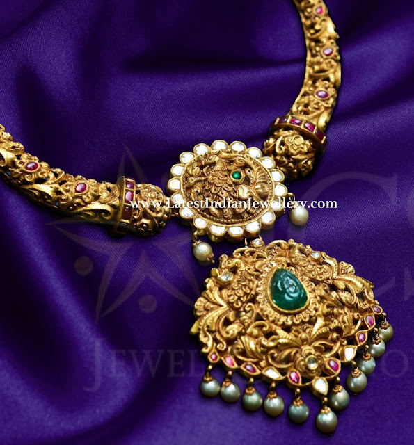 Intricate Work Kante Necklace