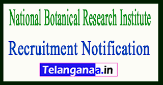 National Botanical Research Institute NBRI Lucknow Recruitment Notification 2017