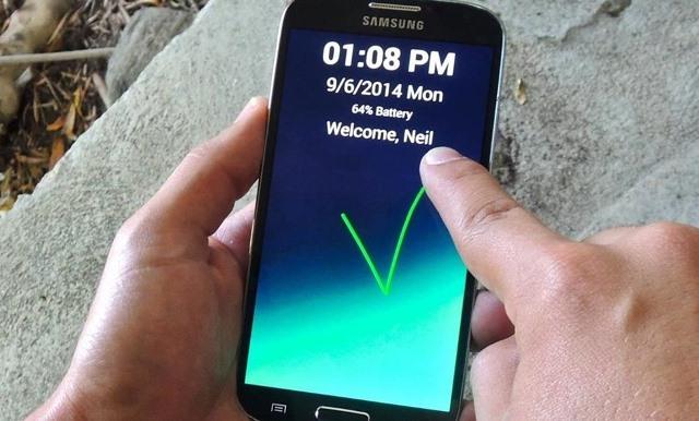 cara membuat kunci layar (lockscreen) android keren unik dengan gesture atau goresan tangan no root