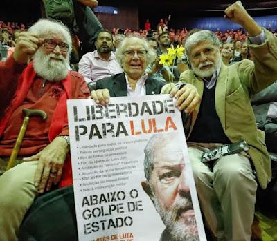 Boff, Esquivel e Amorim, liberdade para Lula, abaixo o golpe
