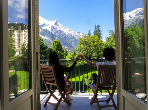 French alps hotel