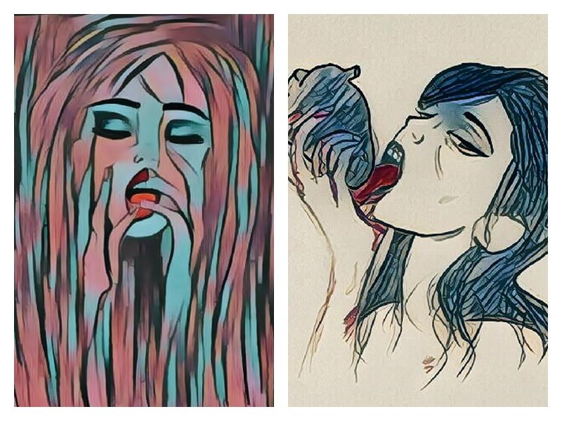 Harumi Hironaka inspired art