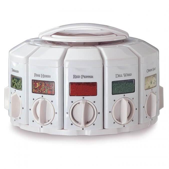 20 Smart Gadgets on Amazon That Make Life More Comfortable - KitchenArt Select-A-Spice Auto-Measure Carousel