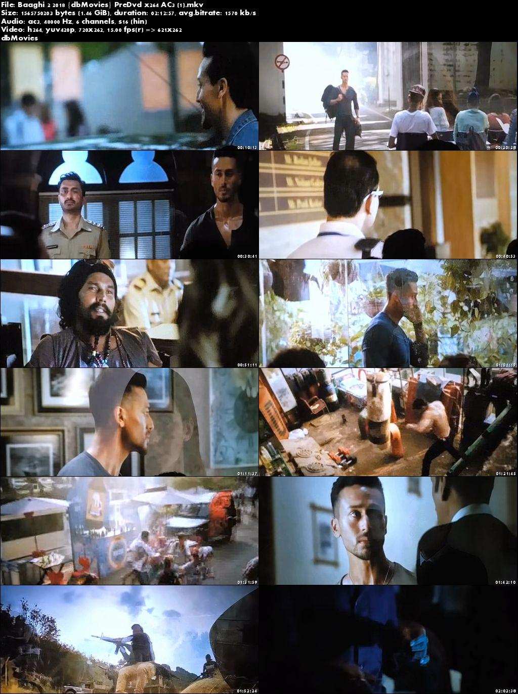 Screen Shots Baaghi 2 2018 Full Movie Download Pre DvDRip 720p