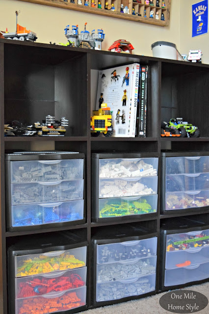Simple and Decorative Lego Storage for Kid's Rooms