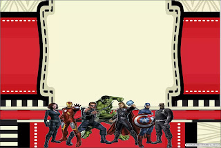 Avengers Party: Free Printable Invitations.