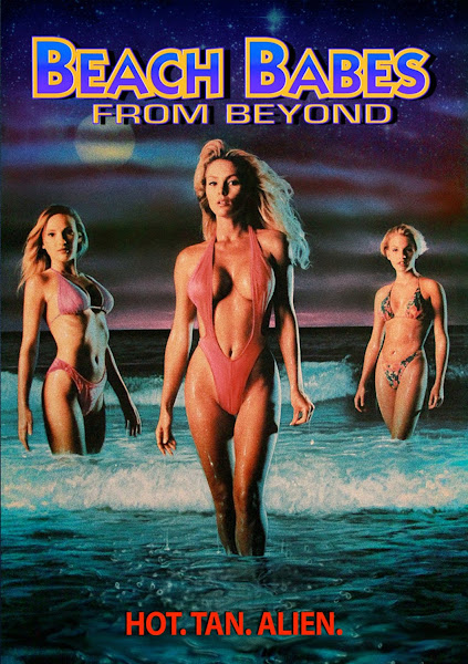 Poster Of (18+) Beach Babes From Beyond 1993 UnRated Hindi DVDRip Dual Audio