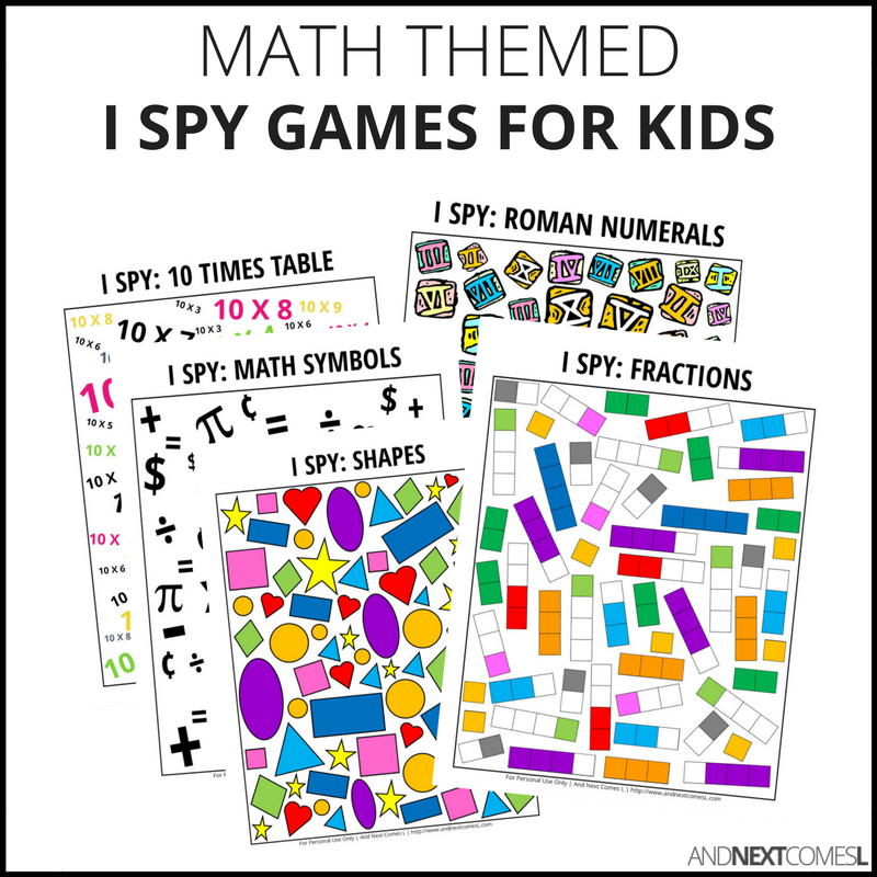 Math I Spy Bundle Pack And Next Comes L