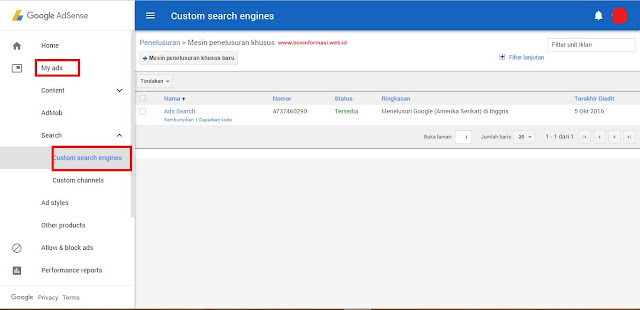 Cara Memasang Script Adsense for Search di Blog Terbaru Cara Memasang Script Adsense for Search di Blog Terbaru