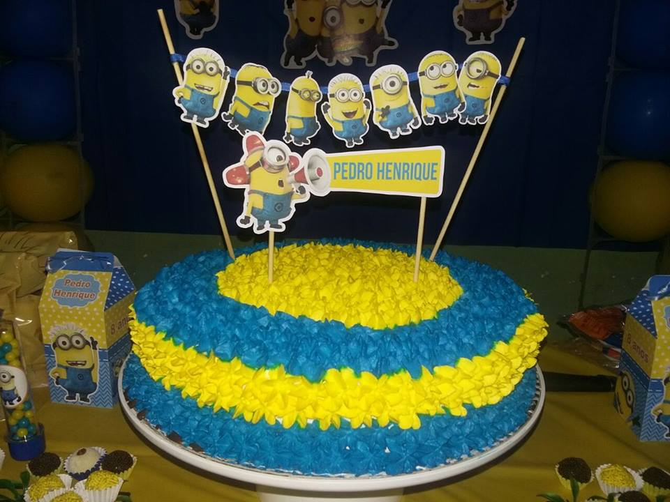 Fine Free Printable Cake Toppers For A Minions Party Oh My Fiesta Personalised Birthday Cards Cominlily Jamesorg