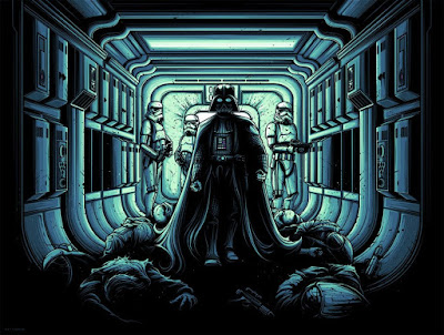 "Star Wars ""I Find Your Lack Of Faith Disturbing"" Regular Edition Screen Print by Dan Mumford x Dark Ink Art"