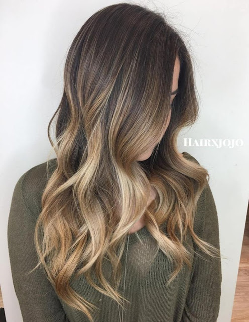 6 Hot Partial Highlights Ideas for Brunettes 6 - Light Brown Partial Ombre