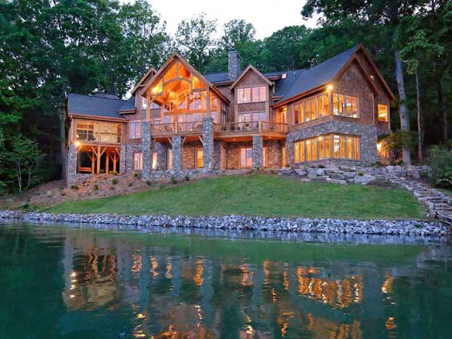 Luxury mountain house location plans