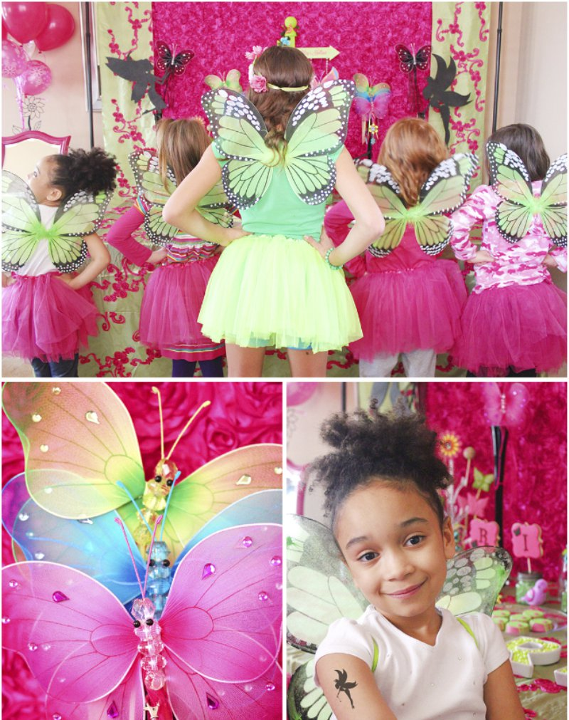 Fairy birthday party ideas via BirdsParty.com @birdsparty