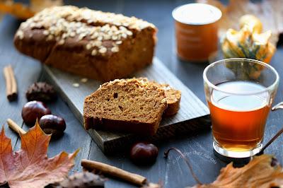 cake aux épices , cannelle , citrouille , potiron