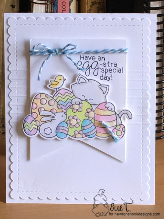 Have an egg-stra special day by Sue features Newton's Easter Basket and Frames & Flags by Newton's Nook Designs; #newtonsnook