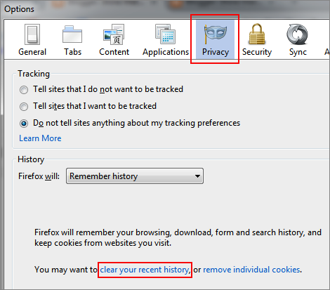 how to delete firefox cookies