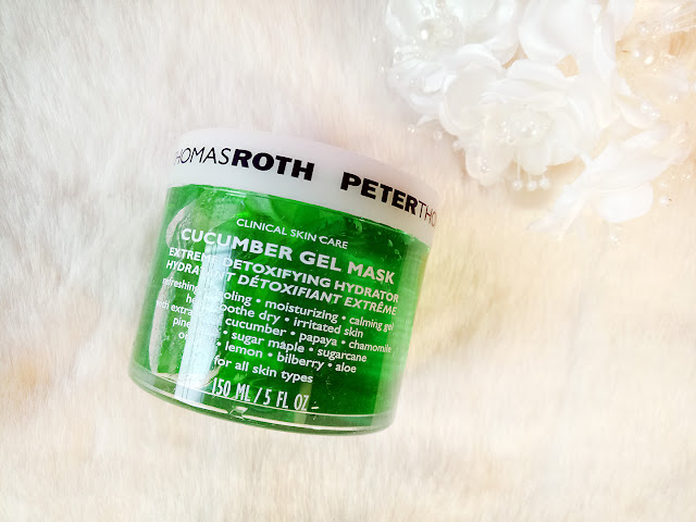 PETER THOMAS ROTH Cucumber Gel Mask Extreme Detoxifying Hydrator, cucumber mask, gel mask, peter thomas ross, skincare, skin care review, beauty, beauty blog, top beauty blog of pakistan, red alice rao, maliha rao