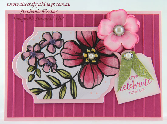 #thecraftythinker, #stampinup, #cardmaking, Petal Passion Memories & More, Stampin' Blends, Stampin' Up! Australia Demonstrator, Stephanie Fischer, Sydney NSW