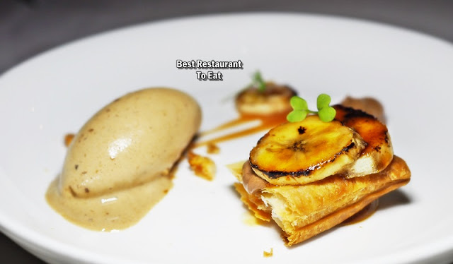 CHAMPIGNONS AT OASIS  - Caramelized Banana With Cepe Mushroom