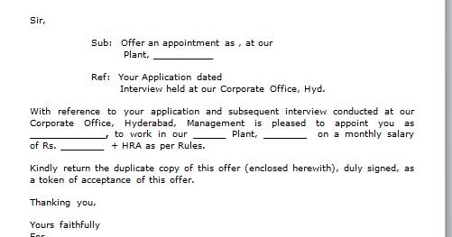 Sample Letter Thanking For Job Offer   Cover Letter And Resume ...