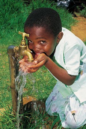 Drinking fresh water in Africa