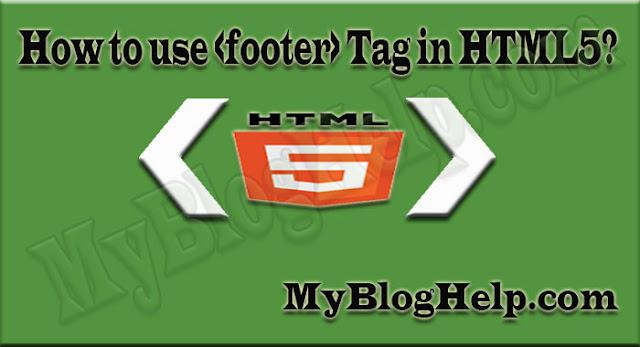 html5 footer tag