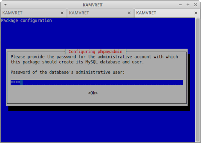 Masukkan password database phpmyadmin