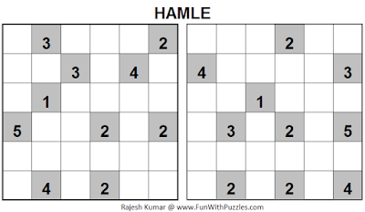 HAMLE (Mini Puzzles Series #23) Solution