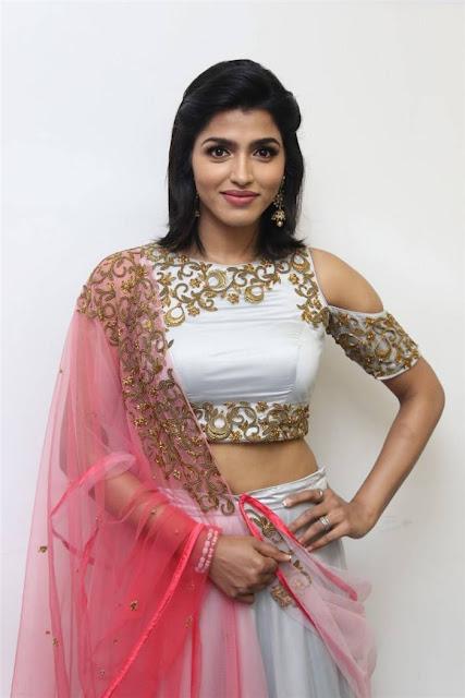 Dhansika in Lehenga at Rani Movie Audio Launch Event
