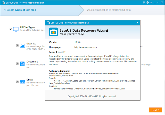 EaseUS Data Recovery Wizard 10.5 + Key โปรแกรมกู้คืนข้อมูล