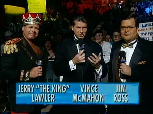 WWF / WWE - In Your House 3 - Triple Header - Jerry Lawler, Vince McMahon and Jim Ross commentary team