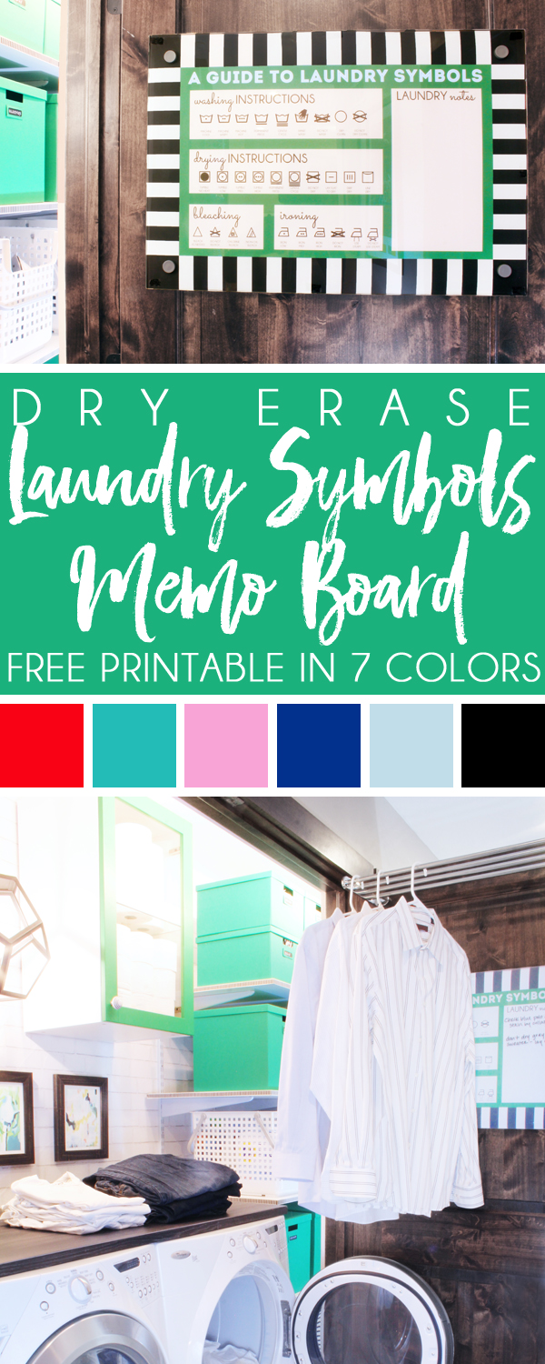 photo about Laundry Symbols Printable referred to as planning with design and style Dry Erase Memo Board + Absolutely free Laundry