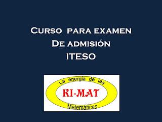 Cursos para examen de admision Iteso