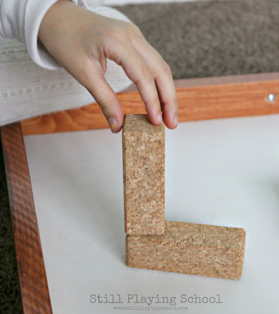 KORXX cork building blocks provides hands on ways for kids to learn letters
