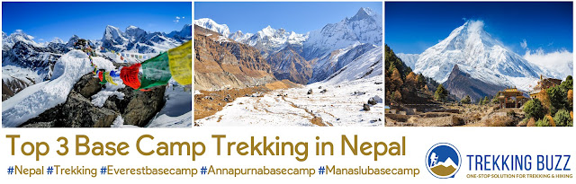 Top 3 Base Camp Trekking in Nepal