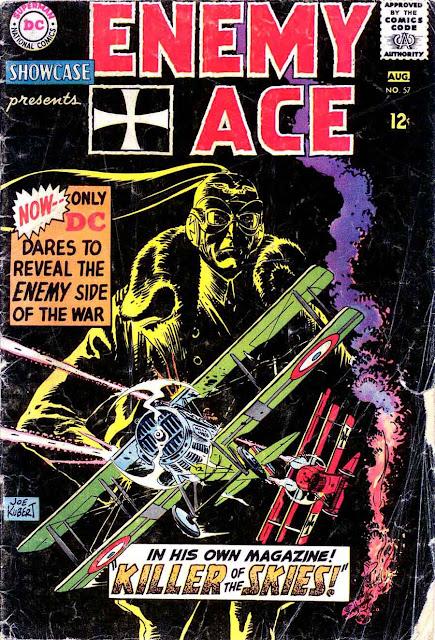 Showcase v1 #57 Enemy Ace dc comic book cover art by Joe Kubert