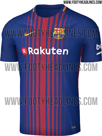 9b6a87fae1dbf Cómo será el uniforme titular del Barcelona 2017 2018