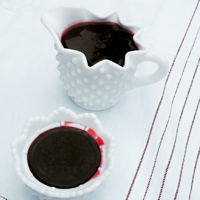Blackberry syrup using fresh blackberries