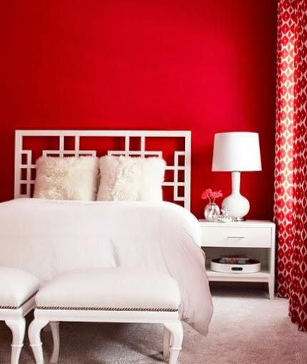 Habitaciones en color rojo ideas para decorar dormitorios - Color paredes habitacion ...