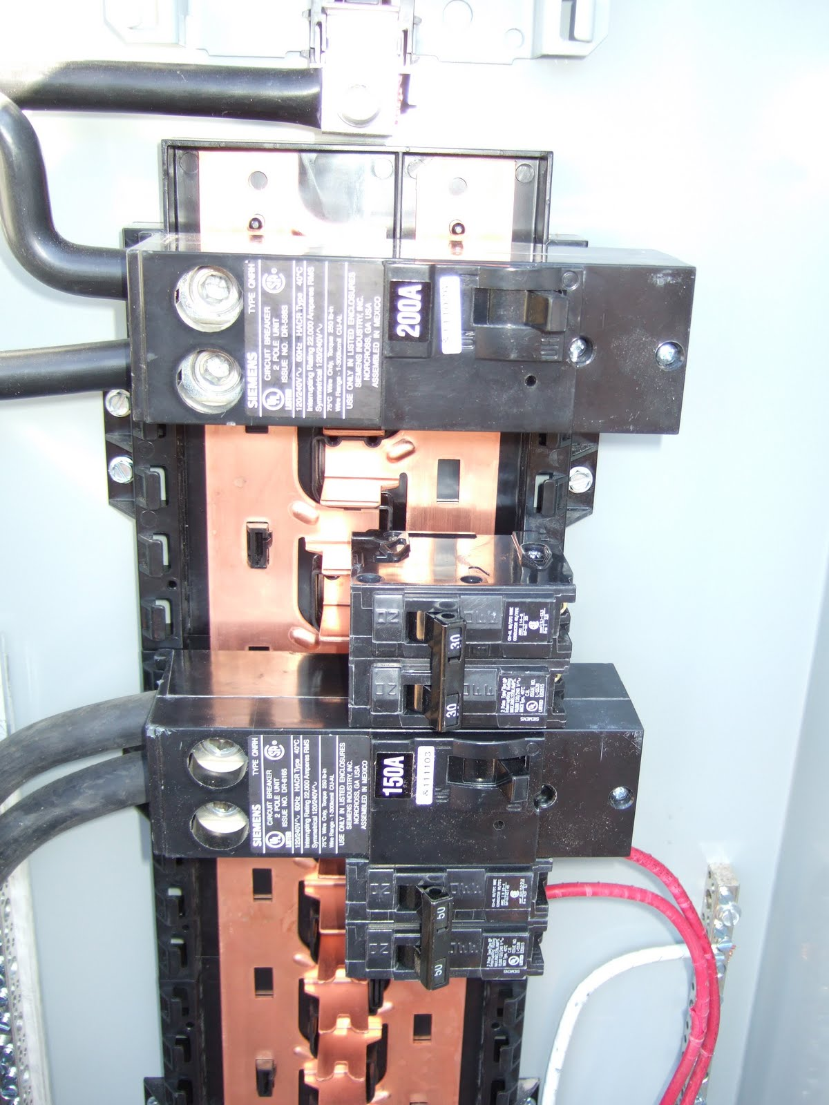 Azben  400 Amp Meter Panel Installed