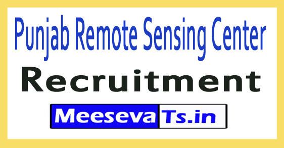 Punjab Remote Sensing Center PRSC Recruitment