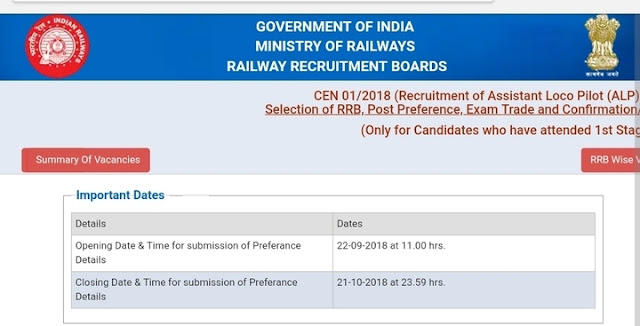 RRB ALP Exam Trade & Post Preference Link Re-Activated: One More Chance to Modify Details